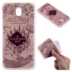 Castle The Marauders Map 3D Relief Matte Soft TPU Back Cover for Samsung Galaxy J7 2017 J730 Eurasian