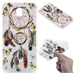 Color Wind Chimes 3D Relief Matte Soft TPU Back Cover for Samsung Galaxy J7 2017 J730 Eurasian