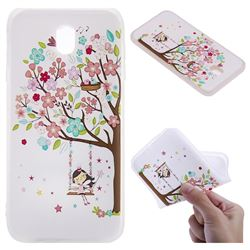 Tree and Girl 3D Relief Matte Soft TPU Back Cover for Samsung Galaxy J7 2017 J730 Eurasian