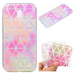 Rainbow Triangle Super Clear Soft TPU Back Cover for Samsung Galaxy J7 2017 J730 Eurasian