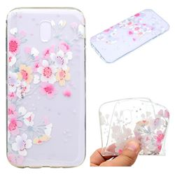 Peach Super Clear Soft TPU Back Cover for Samsung Galaxy J7 2017 J730 Eurasian
