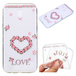 Heart Garland Super Clear Soft TPU Back Cover for Samsung Galaxy J7 2017 J730 Eurasian