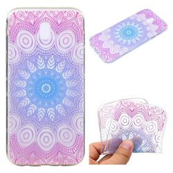 Colored Mandala Super Clear Soft TPU Back Cover for Samsung Galaxy J7 2017 J730 Eurasian