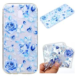 Ice Rose Super Clear Soft TPU Back Cover for Samsung Galaxy J7 2017 J730 Eurasian