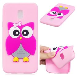 Pink Owl Soft 3D Silicone Case for Samsung Galaxy J7 2017 J730 Eurasian