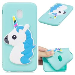 Blue Hair Unicorn Soft 3D Silicone Case for Samsung Galaxy J7 2017 J730 Eurasian