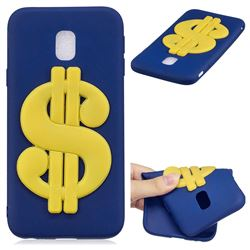 US Dollars Soft 3D Silicone Case for Samsung Galaxy J7 2017 J730 Eurasian