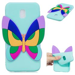 Rainbow Butterfly Soft 3D Silicone Case for Samsung Galaxy J7 2017 J730 Eurasian