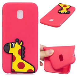 Yellow Giraffe Soft 3D Silicone Case for Samsung Galaxy J7 2017 J730 Eurasian
