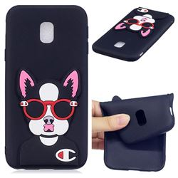 Glasses Gog Soft 3D Silicone Case for Samsung Galaxy J7 2017 J730 Eurasian