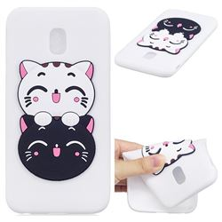 Couple Cats Soft 3D Silicone Case for Samsung Galaxy J7 2017 J730 Eurasian