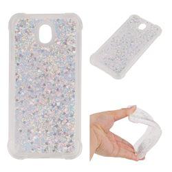 Dynamic Liquid Glitter Sand Quicksand Star TPU Case for Samsung Galaxy J7 2017 J730 Eurasian - Silver