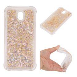 Dynamic Liquid Glitter Sand Quicksand Star TPU Case for Samsung Galaxy J7 2017 J730 Eurasian - Diamond Gold