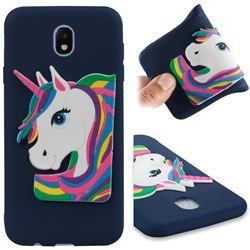 Rainbow Unicorn Soft 3D Silicone Case for Samsung Galaxy J7 2017 J730 Eurasian - Navy
