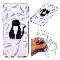 Feather Black Cat Super Clear Soft TPU Back Cover for Samsung Galaxy J7 2017 J730 Eurasian