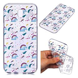 Rainbow Running Unicorn Super Clear Soft TPU Back Cover for Samsung Galaxy J7 2017 J730 Eurasian