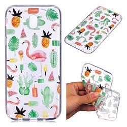 Cactus Flamingos Super Clear Soft TPU Back Cover for Samsung Galaxy J7 2017 J730 Eurasian