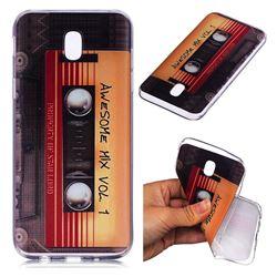 Retro Cassette Tape Super Clear Soft TPU Back Cover for Samsung Galaxy J7 2017 J730 Eurasian