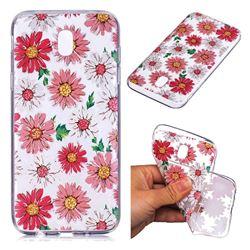 Chrysant Flower Super Clear Soft TPU Back Cover for Samsung Galaxy J7 2017 J730 Eurasian