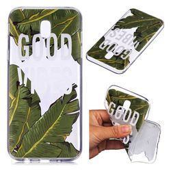 Good Vibes Banana Leaf Super Clear Soft TPU Back Cover for Samsung Galaxy J7 2017 J730 Eurasian