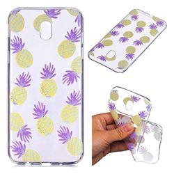 Carton Pineapple Super Clear Soft TPU Back Cover for Samsung Galaxy J7 2017 J730 Eurasian