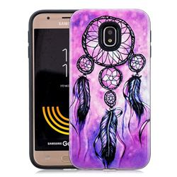 Starry Wind Chimes Pattern 2 in 1 PC + TPU Glossy Embossed Back Cover for Samsung Galaxy J7 2017 J730 Eurasian