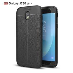 Luxury Auto Focus Litchi Texture Silicone TPU Back Cover for Samsung Galaxy J7 2017 J730 Eurasian - Black