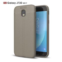 Luxury Auto Focus Litchi Texture Silicone TPU Back Cover for Samsung Galaxy J7 2017 J730 Eurasian - Gray