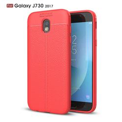 Luxury Auto Focus Litchi Texture Silicone TPU Back Cover for Samsung Galaxy J7 2017 J730 Eurasian - Red