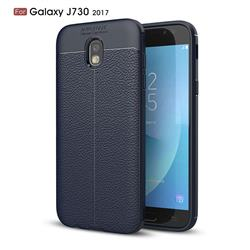 Luxury Auto Focus Litchi Texture Silicone TPU Back Cover for Samsung Galaxy J7 2017 J730 Eurasian - Dark Blue