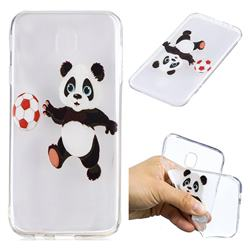 Football Panda Super Clear Soft TPU Back Cover for Samsung Galaxy J7 2017 J730 Eurasian