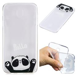 Hello Panda Super Clear Soft TPU Back Cover for Samsung Galaxy J7 2017 J730 Eurasian