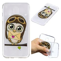 Envelope Owl Super Clear Soft TPU Back Cover for Samsung Galaxy J7 2017 J730 Eurasian