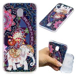 Totem Flower Elephant Super Clear Soft TPU Back Cover for Samsung Galaxy J7 2017 J730 Eurasian