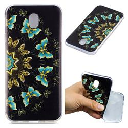 Circle Butterflies Super Clear Soft TPU Back Cover for Samsung Galaxy J7 2017 J730 Eurasian