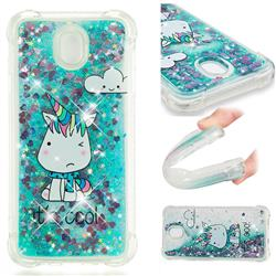 Tiny Unicorn Dynamic Liquid Glitter Sand Quicksand Star TPU Case for Samsung Galaxy J7 2017 J730 Eurasian