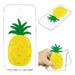 Yellow Pineapple Liquid Quicksand Soft 3D Cartoon Case for Samsung Galaxy J7 2017 J730 Eurasian