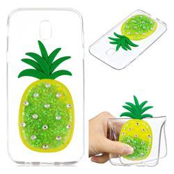 Green Pineapple Liquid Quicksand Soft 3D Cartoon Case for Samsung Galaxy J7 2017 J730 Eurasian