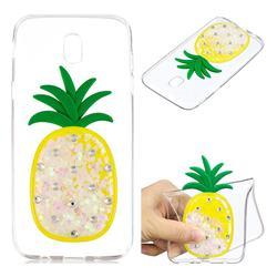 White Pineapple Liquid Quicksand Soft 3D Cartoon Case for Samsung Galaxy J7 2017 J730 Eurasian