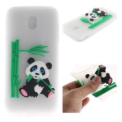 Panda Eating Bamboo Soft 3D Silicone Case for Samsung Galaxy J7 2017 J730 Eurasian - Translucent