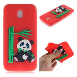 Panda Eating Bamboo Soft 3D Silicone Case for Samsung Galaxy J7 2017 J730 Eurasian - Red