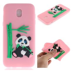 Panda Eating Bamboo Soft 3D Silicone Case for Samsung Galaxy J7 2017 J730 Eurasian - Pink