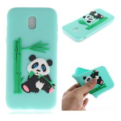 Panda Eating Bamboo Soft 3D Silicone Case for Samsung Galaxy J7 2017 J730 Eurasian - Green
