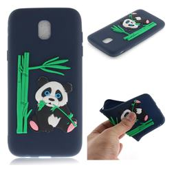 Panda Eating Bamboo Soft 3D Silicone Case for Samsung Galaxy J7 2017 J730 Eurasian - Dark Blue