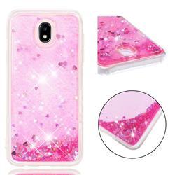Dynamic Liquid Glitter Quicksand Sequins TPU Phone Case for Samsung Galaxy J7 2017 J730 Eurasian - Rose