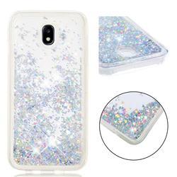 Dynamic Liquid Glitter Quicksand Sequins TPU Phone Case for Samsung Galaxy J7 2017 J730 Eurasian - Silver