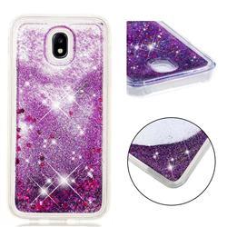 Dynamic Liquid Glitter Quicksand Sequins TPU Phone Case for Samsung Galaxy J7 2017 J730 Eurasian - Purple