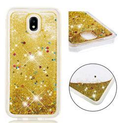 Dynamic Liquid Glitter Quicksand Sequins TPU Phone Case for Samsung Galaxy J7 2017 J730 Eurasian - Golden