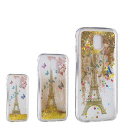 Golden Tower Dynamic Liquid Glitter Quicksand Soft TPU Case for Samsung Galaxy J7 2017 J730 Eurasian