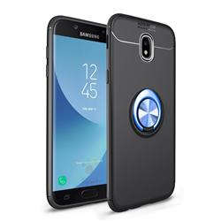Auto Focus Invisible Ring Holder Soft Phone Case for Samsung Galaxy J7 2017 J730 Eurasian - Black Blue